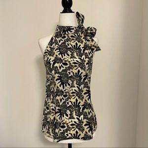 Etro Silk sleeveless blouse with side neck tie